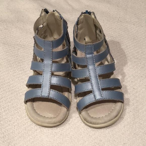 Sandal Poshmark Worn Umi 2x Blue ShoesGladiator Metallic CreBxod